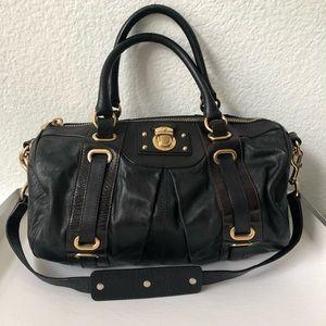 Auth MARC JACOBS Black Leather Satchel/bag